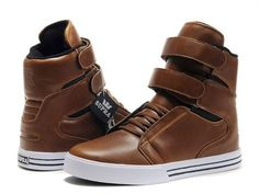 Supra Terry Kennedy TK Society Brown Leather High Top Shoes