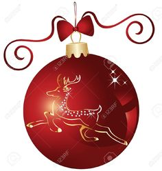 Christmas Ball And Gold Reindeer Design Royalty Free Cliparts, Vectors, And Stock Illustration. Image 16587654.