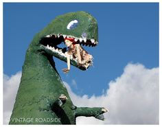 Route 66 old school roadside attraction  in Holbrook, Arizona. #dinosaur