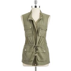 Vince Camuto - Green Four Pocket Vest Safari Vest, Style Me, Cool Style, Utility Vest, Green Vest, Engagement Photo Inspiration, Vince Camuto, Military Jacket, Clothes For Women