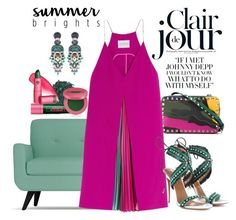 Summer Brights by chrisger on Polyvore featuring polyvore, fashion, style, Mary Katrantzou, Aquazzura, Valentino, Ayala Bar, Lipstick Queen, Sugarpill and clothing