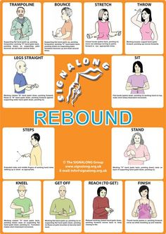 Rebound Therapy Poster #signlanguageposter