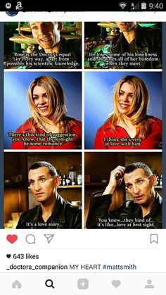 This fills my heart like you don't even know. Rose and The Doctor are my OTP. And that's any Doctor -any of Rose's Doctors- or TenToo. I'm just so glad TenToo was created so that she gets to stay with him for the rest of her life. Serie Doctor, Ninth Doctor, First Doctor, Space Man, Rose And The Doctor, Doctor Who Rose Tyler, Doctor Who 9, Christopher Eccleston, Out Of Touch