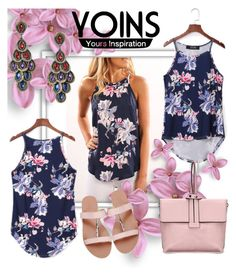 """""""Yoins Floral Top"""" by laurabosch on Polyvore"""
