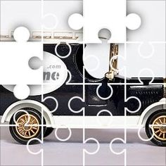 JigZone Van Jigsaw Puzzle, 67 Piece Classic. Model of old style delivery van. black,