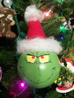 Grinch Christmas ornament ~Craftster.org