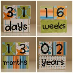 Baby Age Blocks for Photos