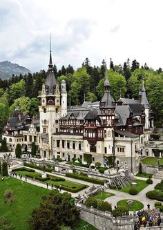 """royals-and-quotes: """" PELES CASTLE - Located in Sinaia, Romania, Peles Castle is considered by many one of the most beautiful castles in all Europe. Beautiful Castles, Beautiful Buildings, Beautiful Places, Amazing Places, Beautiful Pictures, Menorca, Beaux Arts Architecture, Places To Travel, Places To See"""