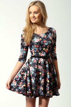 ASOS Skater Dress with Polo Neck. With tights for teaching ...