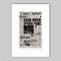 MinaLima - The Daily Prophet