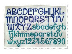 """Penguin Machine Embroidery Font Alphabet This set comes with 3 sizes:  1"""" - Satin Stitch Alphabet 2"""" - Satin Stitch Alphabet 3"""" - Fill Stitch Alphabet  The set includes upper and lower case letters and numbers 0-9."""