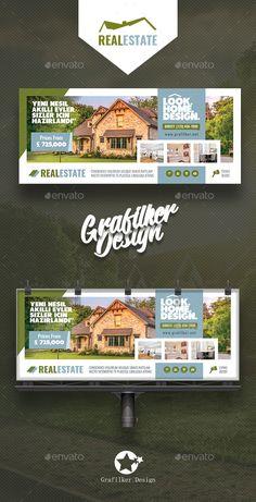 #Real Estate #Billboard Templates - #Signage Print Templates