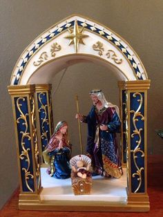Hawthorne Village Heaven's Radiant Glory Nativity Jeweled Holy Family Creche    eBay