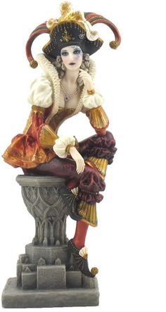 Female Jester Fantasy Art Sculpture Statue Figurine available at AllSculptures.com