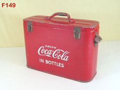VINTAGE ANTIQUE COCA COLA COKE AIRLINE COOLER CHEST SODA POP ADVERTISING RARE #CocaCola