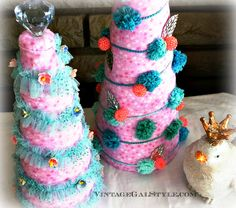 fabric Christmas Trees Christmas Wishes, Xmas, Fabric Christmas Trees, Pastels, Super Easy, Cottage, Tutorials, Diy Crafts, Crafty