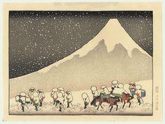 Fuji in Deep Snow - Hokusai