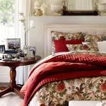 Belle déco chambre au linge rouge