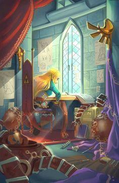 Zelda in her study