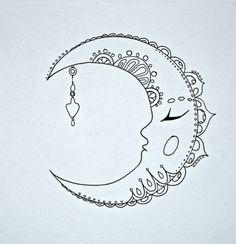 Bohemian Moon by WilldRose on Etsy