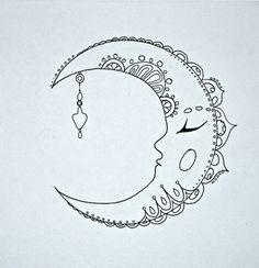 Bohemian Moon by WilldRose on Etsy