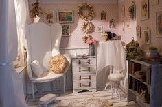 Kingyo dolls: Shabby chic roombox          on etsy