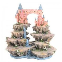 Magical Fairy Castle Landscape Waterfall Scenery Display Stand buy handmade UK | sell handmade UK | UK marketplace | Shopsie http://www.shopsie.co.uk/product/toys-games-hobbies-pastimes/magical-fairy-castle-landscape-waterfall-scenery-display-stand/