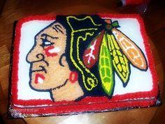 Chicago Blackhawks cake.