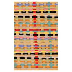 Sandsweeper Mat 3'10x5'6, $165, now featured on Fab. These are sooo cool. I love the colors in this one. Maybe mud room?