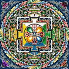 Mandala De colores Tibetano