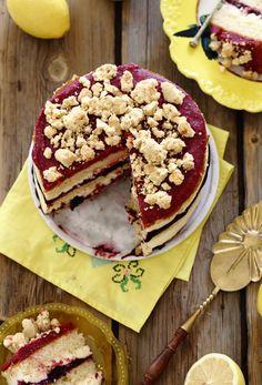 #Vanilla #CheeseCake #Berries #Crumble #Hebrew
