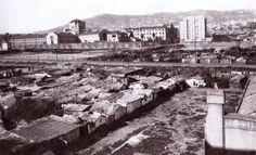 1926 - Barracas en la Av. de Roma frente a la cárcel Modelo. BARCELONA, AHORA Y SIEMPRE: Vallcarca-El Coll