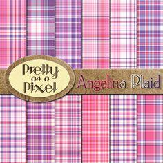 Digital Printable Scrapbook Paper  Angelina by PrettyAsAPixel