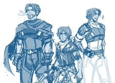 """seizure-seven: """"a WIP of Jesse, Jesse and Jesse McCree in TROUBLEMAKERPARTY.psd """""""