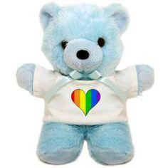 Rainbow Heart Teddy Bear