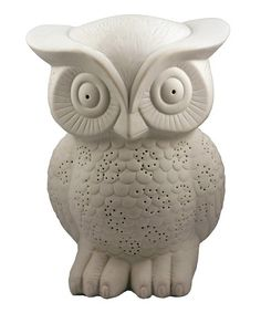 White Owl Table Lamp by Streamline #zulily #zulilyfinds This is so awesome but the measurements are 19'' W x 25'' H is that inches? o.O I can't remember.