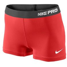 "nike women's compression shorts | Nike Pro 2.5"" Compression Short - Women's - Fusion Red/Summit White"