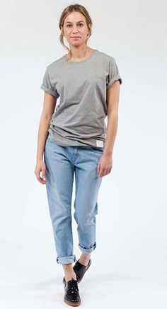 Mud Jeans Boyfriend Basin – Light Stone