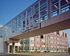 University of Kentucky. I love the modern look of the hospital and all the buildings surround. I have driven under the connector a few times but I have never walked across it. Hopefully one day I will!