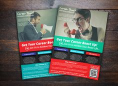 Career Boost Consultant Flyer by flyernerds on Creative Market