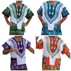 Unisex Dashiki Cotton Print Tops, Sizes XSmall - 2XLarge African Print Shirt, African Shirts For Men, Dashiki, Shirt Style, Cover Up, Boutique, Stitch, Unisex, 3 Weeks