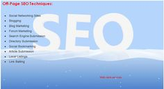 Off page #SEO refers to techniques that can be used to improve the position of a web site in the search engine results page (SERPs). Many people associate off-page #SEO with link building but it is not only that. In general, off Page #SEO has to do with promotion methods – beyond website design –for the purpose of ranking a website higher in the search results. http://webrankservices.com.au/