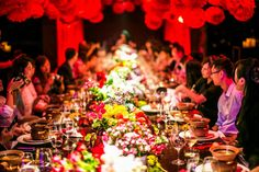 Beautiful Dinner party with good company #cny #dinnerparty #luxury #decor #flowers #dressup #gala