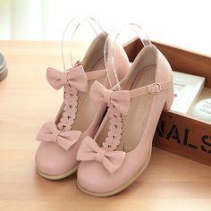 Sweet lolita bowknot heels