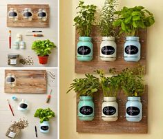 diy garden ideas You'll have a continuous supply of seasonal fresh herbs on hand when you have a Mason Jar Herb Garden. We've included lots of ideas that will inspire and delight plus instructions on how to make them. Watch the video tutorial too.