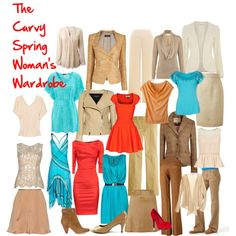 """The Curvy Spring Woman's Wardrobe"" by l-edwards on Polyvore"