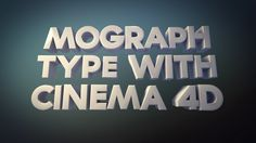 Mograph Text Using Cineware and Cinema 4D Lite