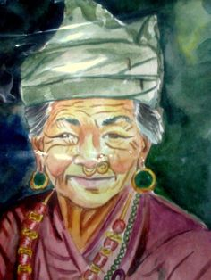 face of nepal - Painting by Ujool Ujwal in My Projects at touchtalent 70712