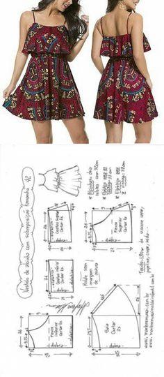 Выкройка летнего сарафана на размеры евро 36-56 (Шитье и крой) — Журнал Вдохновение Рукодельницы