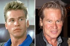 Val Kilmer Then & Now!   Albany Daily News Val Kilmer, Chris De Burgh, Shakespeare Festival, Celebrities Then And Now, Young Old, Stars Then And Now, Movie Facts, Jim Morrison, Star Wars